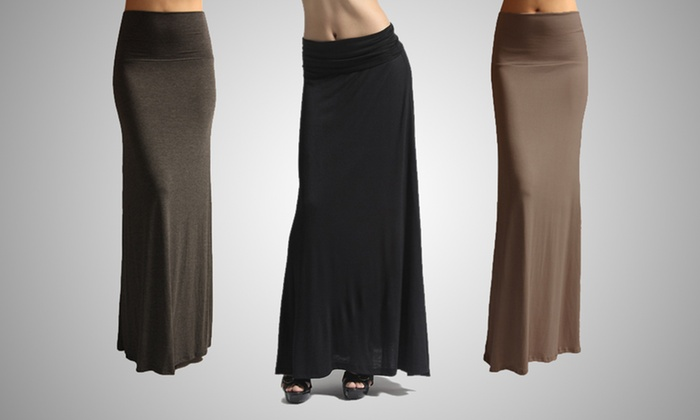 Smooth Fashion Long Maxi Skirt: $14.99 for a Smooth Fashion Long Maxi Skirt ($49.99 List Price). Multiple Colors Available. Free Shipping and Returns.