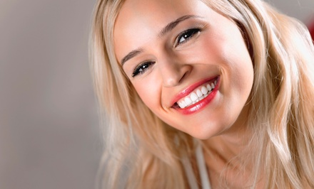 Dental Checkup with Exam, X-Ray, and Cleaning or Whitening Treatment or Both  (Up to 74% Off)