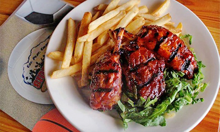 Sideliners Grill - North Central Thousand Oaks: Barbecue and Pub Cuisine at Sideliners Grill (Half Off). Three Options Available.