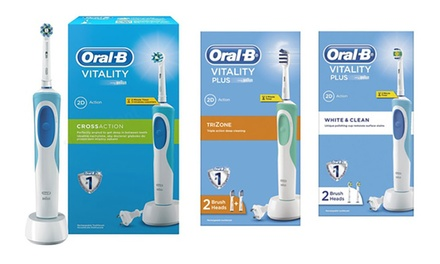 OralB Vitality Plus Electric Toothbrush £17.99 with Optional Shaver Plug £19.99