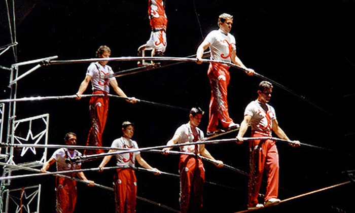 Jordan World Circus - Von Braun Center: Child, Adult, or Family Show Package for Jordan World Circus at Von Braun Center on August 22 at 7 p.m. (Up to 57% Off)