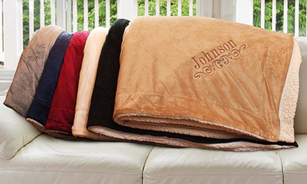 Custom Embroidered Sherpa Blankets from GiftsForYouNow.com (Up to 50% Off)