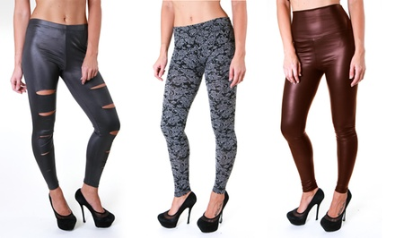 Faux-Leather and Seamless Leggings. Multiple Styles Available. Free Returns.