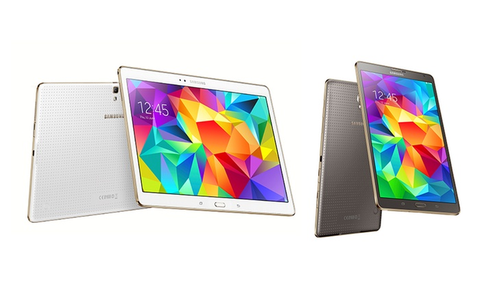 """Samsung Galaxy S 16GB 8.4"""" or 10.5"""" Tablet with Android 4.4 OS from $279.99–$334.99 (Manufacturer Refurbished)"""
