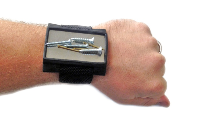 Magnetic Wristband for Screws and Tool Parts