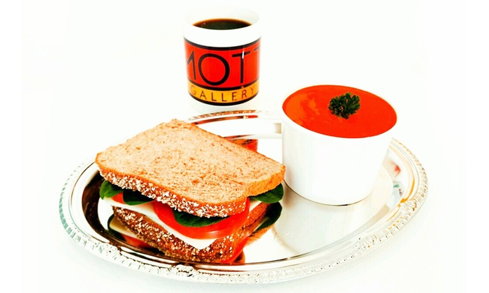 Mott Gallery - Carytown: $14 for Two Groupons worth of Soup, Full Build Your Own Sandwich, and Medium Coffee ($30 Value)