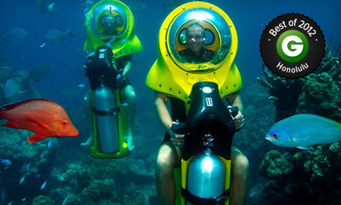 Island Water Sports Hawaii - Hawaii Kai: Submersible-Eco-Scooter and Turtle-Watching Adventure from Island Watersports Hawaii (Up to 53% Off)