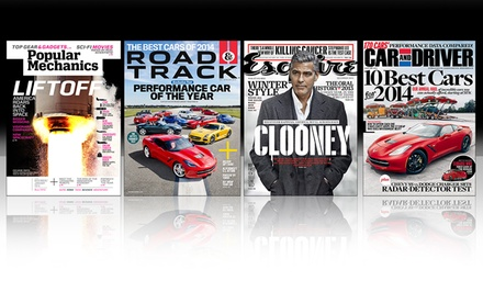 1-Year Subscription to Car and Driver, Esquire, Popular Mechanics, or Road & Track Magazine