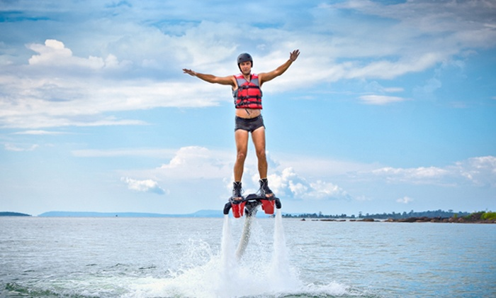 Find A Way Flyboarding - Shellard Lane: 30-Minute Flyboard Flight for One, Valid on a Weekday or Weekend Day from Find A Way Flyboarding (Up to 47% Off)