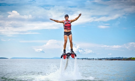 30-Minute Flyboard Flight for One, Valid on a Weekday or Weekend Day from Find A Way Flyboarding (Up to 47% Off)