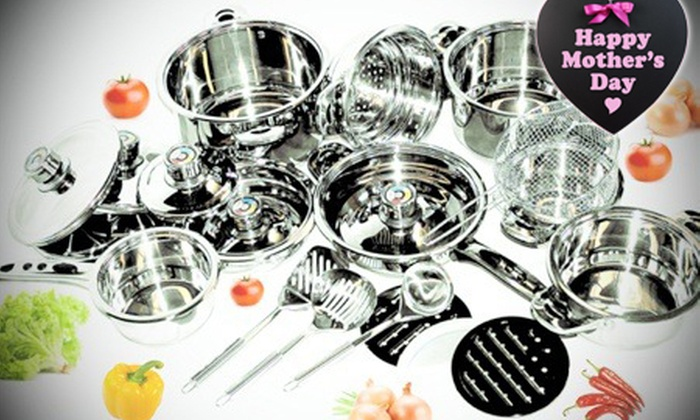 Groupon Goods: 16-Piece or 21-Piece Mafy Pot Set  from R1 199.99 Including Delivery (Up to 50% Off)