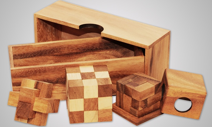 Straga Products - York University Heights: Three-Game Puzzle Set, Mysterious X or Beer-Barrel Wooden Puzzle, or Soma Cube from Straga Products (Half Off)
