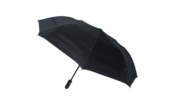 London Fog Windproof Double Canopy Auto Open/Close Umbrella