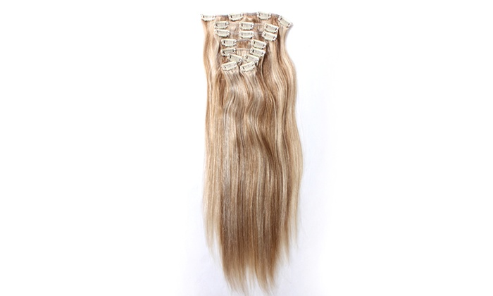 100 human remy hair extensions groupon goods dollie hair extensions 100 human remy clip in hair extensions highlights pmusecretfo Gallery