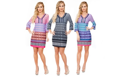 Audrie Printed Dress