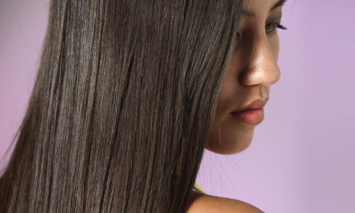 Marc Stevens Gallery and Spa - Grand Center: Keratin Smoothing Treatment with Optional Haircut at Marc Stevens Gallery and Spa (Up to 50% Off)