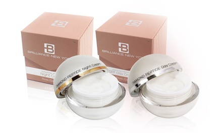 Brilliance New York Pearl Collection Diamond Peptide SPF Day Cream, Night Cream, or Bundle