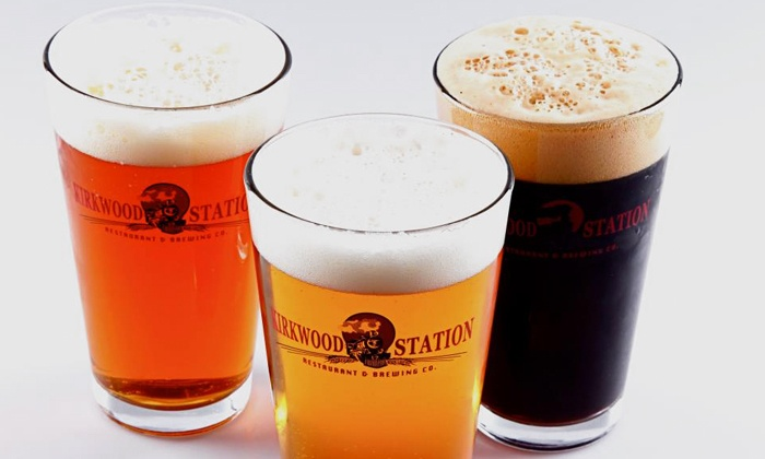 Kirkwood Station Brewing Co. - Saint Louis: Draft Beer Tasting for Two or Two Appetizers and Four Draft Beers at Kirkwood Station Brewing Co. (Up to 45% Off)