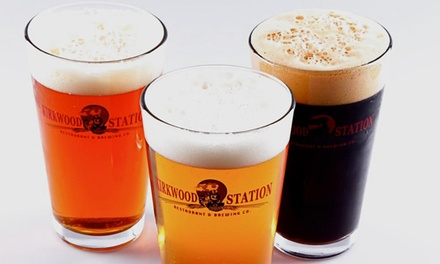 Draft Beer Tasting for Two or Two Appetizers and Four Draft Beers at Kirkwood Station Brewing Co. (Up to 45% Off)