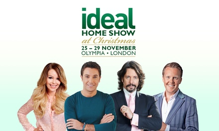 ideal home show at christmas two tickets with magazine from 12 at