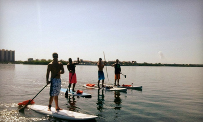 What's Up Stand Up Paddleboard Surf Company - Townsite: One, Two, or Four Standup-Paddleboard Lessons from What's Up Stand Up Paddleboard Surf Company (Up to 58% Off)