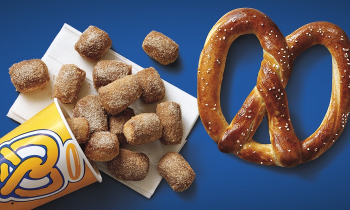 Auntie Anne's - Orange County: $9 for Four Pretzel Items at Auntie Anne's (Up to $19.56 Value)