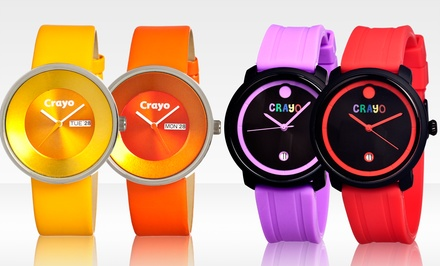Crayo Unisex Fresh or Button Watch. Multiple Colors Available. Free Returns.