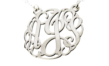 Personalized 3-Initial Monogram Necklace from AJ's Collection