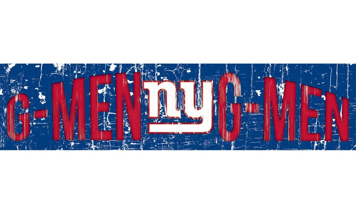 "New York Giants 24"" Slogan Sign: New York Giants 24"" Slogan Sign"