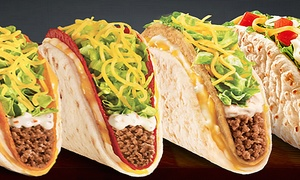 Taco Bell: $6 for $10 Worth of Tacos and Burritos at Taco Bell. Three Options Available.