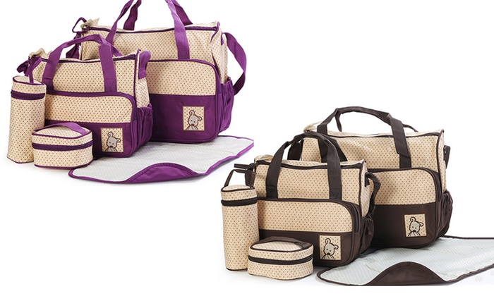 Grabargains: $29 for a Five-in-One Waterproof Baby Bag Set in Choice of Colour