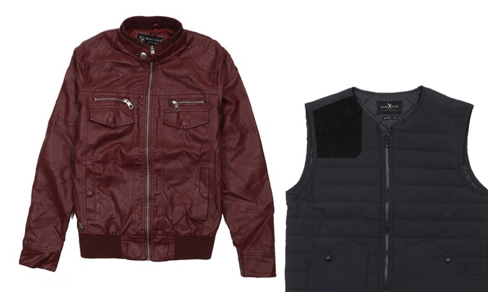 Marc Ecko Cut & Sew Quilted Vests and Moto Jackets: Marc Ecko Cut & Sew Quilted Vest or Moto Jacket