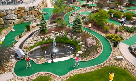 Four Rounds of Mini Golf or Aerial Adventure at Chuckster's Family Entertainment Center (Up to 42% Off)