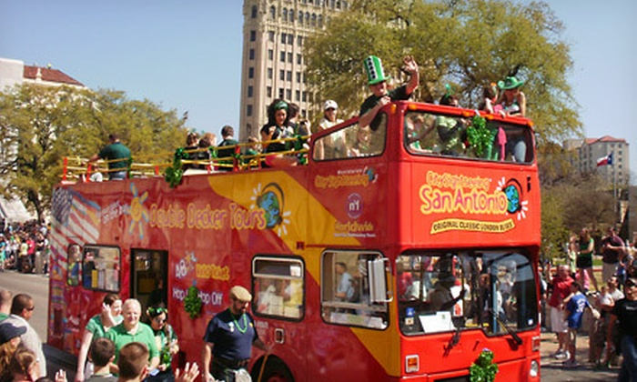 City Sightseeing San Antonio - San Antonio Visitors Center: Double Decker Bus Tour for Two, Four, Six, or a Family of Five from City Sightseeing San Antonio (Up to 57% Off)
