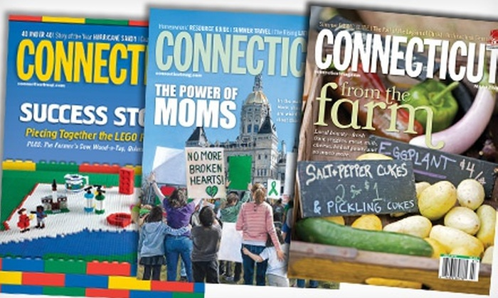 "Connecticut Magazine - Hartford: $10 for a One-Year Subscription to ""Connecticut Magazine"" ($19.97 Value)"