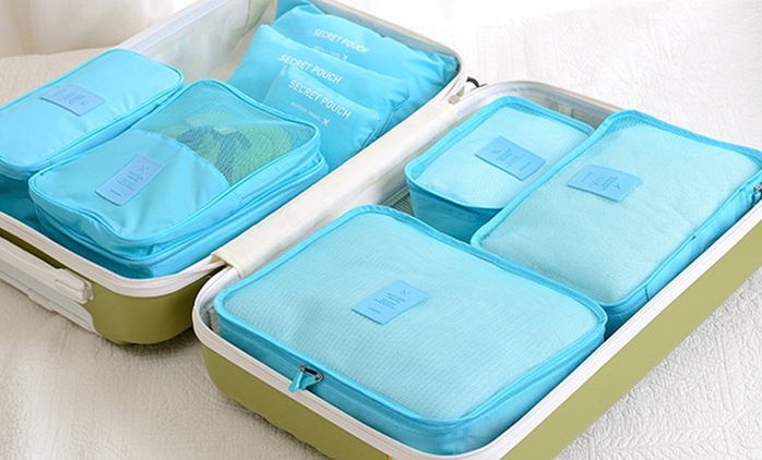 Six-Piece Travel Luggage Organiser Set in Choice of Colour from AED 49 (Up to 75% Off)