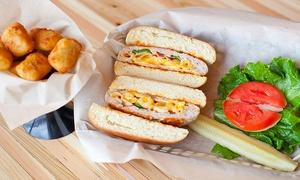 Stufrageous Stuffed Burgers: Stuffed Burgers and Sides at Stufrageous Stuffed Burgers (Up to 43% Off). Two Options Available.