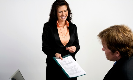 Résumé and Cover-Letter Packages at SOS Career Service (Up to 79% Off). Three Options Available.