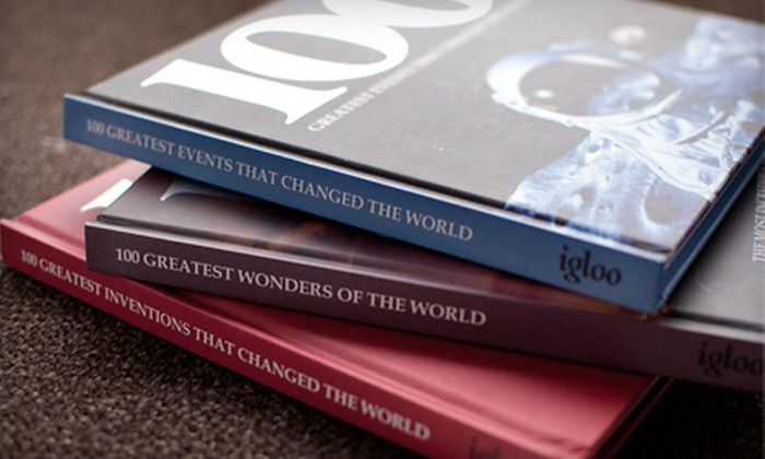 "Three ""100 Greatest"" Books: $19 for a Set of Three Hardcover 100 Greatest Books ($56.85 Value)"