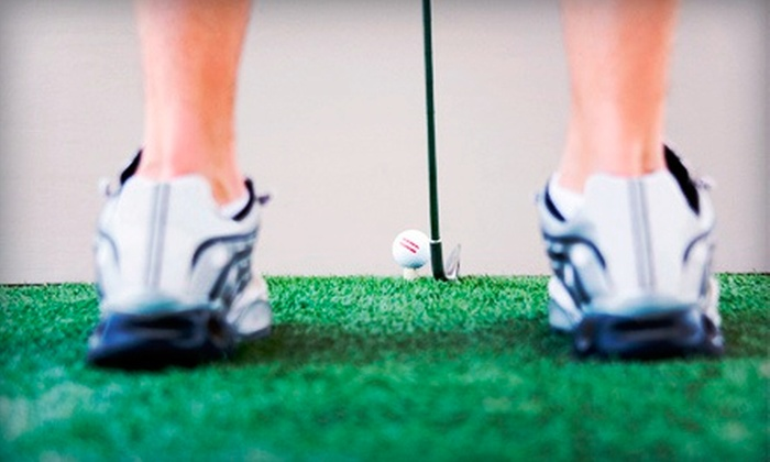 The Triangle Junior Golf School - Apex: 18 Holes of Indoor Simulated Golf for Two or Four at The Triangle Junior Golf School (Up to 60% Off)