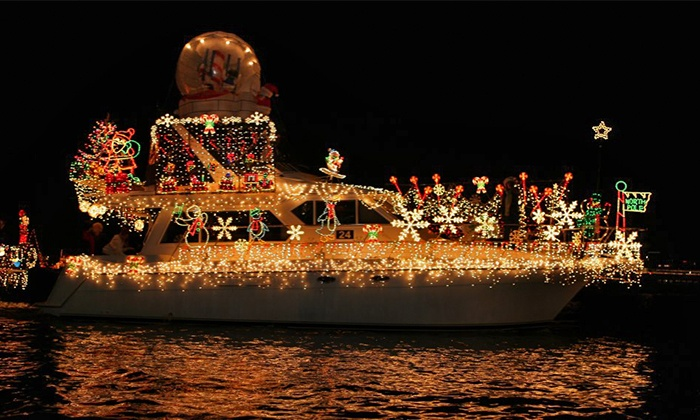 Newport Landing Cruises - Newport Beach: Junior or Adult Tickets for a Newport Beach Christmas Boat Parade Cruise at Newport Landing (Up to 52% Off)
