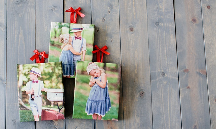 PhotoBarn: Gallery-Wrapped Custom Burlap Photo Print from PhotoBarn
