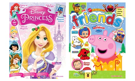 1-Year Subscription to Disney Princess or Fun to Learn Friends Kids' Magazines (6 Issues)