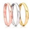 Gold, Rose Gold, or Silver Bangle Bracelets (Set of 3)