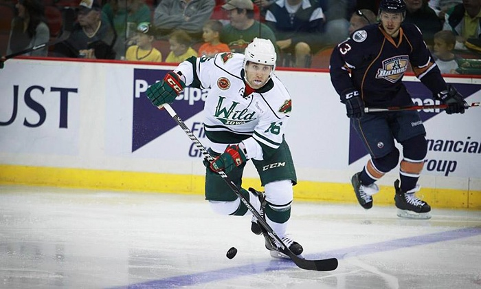 Iowa Wild - Iowa Events Center: Iowa Wild Hockey Game at Wells Fargo Arena on Friday, March 21, or Saturday, March 22 (Up to 49% Off)