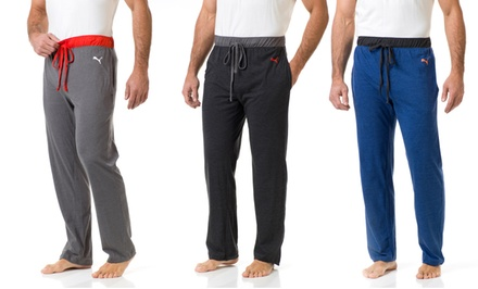 Puma Men's Sleep Pants with Contrast Waistband in Blue, Black, or Charcoal