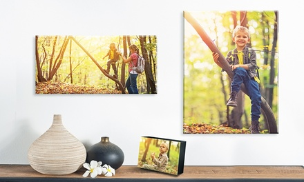 Custom Photo Block, Long Rectangle Canvas Print, or Standard Canvas Print from Fabness (Up to 82% Off)