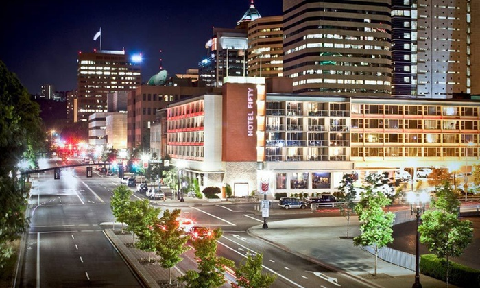 Hotel Fifty - Portland, OR: One- or Two-Night Stay at Hotel Fifty in Portland, OR