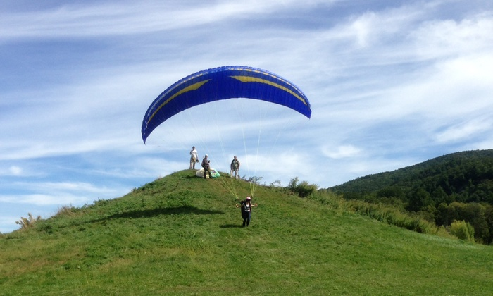 Adventure Sports - Adventure Sports: Introductory Paragliding Lesson for Two at Adventure Sports (Up to 45% Off). Two Options Available.