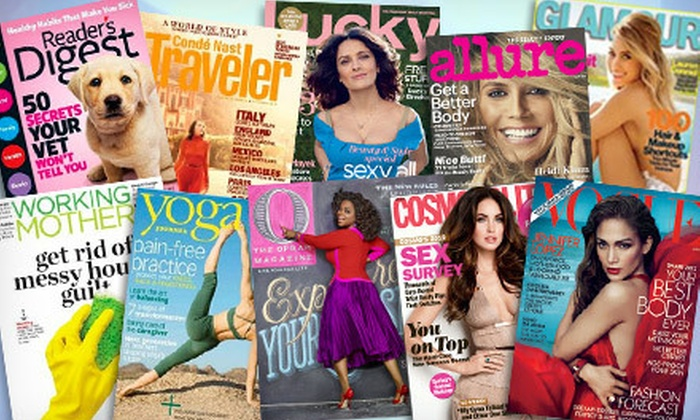 Magazine Subscription: One- or Two-Year Magazine Subscription (Up to 54% Off). 10 Titles Available.